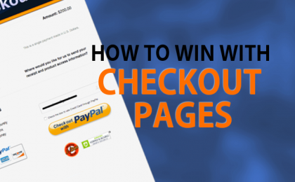 how to win with checkout pages