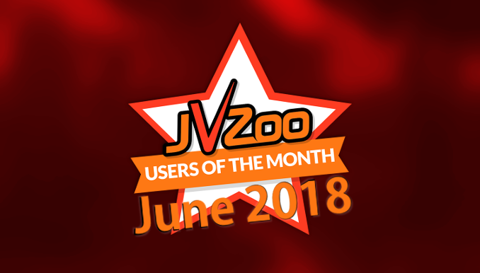 JVZoo Users Of The Month June 2018